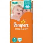 Подгузники Pampers Sleep & Play Размер 4 (Maxi) 8-14 кг, 68 шт