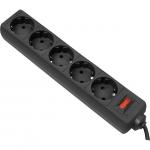 Сетевой фильтр Defender ES 5 метров, 5 розеток, черный